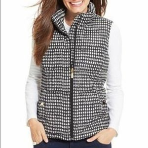 Houndstooth Puffer Vest